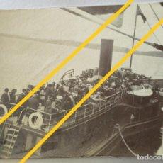 Fotografía antigua: ANTIGUA FOTOGRAFÍA.TRANSBORDADOR DE PASAJEROS DEL BARCO TRASATLÁNTICO RMS TITANIC.TENDER PS IRELAND. Lote 276414473
