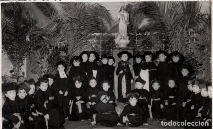 MAGNÍFICA FOTO. GRAN GRUPO DE NIÑOS SEMINARISTAS VIRGEN INMACULADA. RUIZ MARÍN ALMERÍA AÑO 1954 XZ (Fotografía Antigua - Fotomecánica)