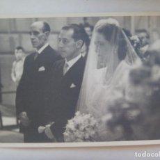 Fotografía antigua: FOTO DE BODA, AÑOS 40. Lote 277267738