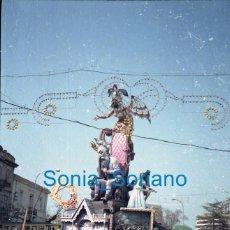 Fotografia antica: FALLAS VALENCIA - UNA FALLA - AÑO 1987 - FOTOGRAFIA COLOR, POSITIVO EN CELULOIDE - 4 X 35. Lote 277420013