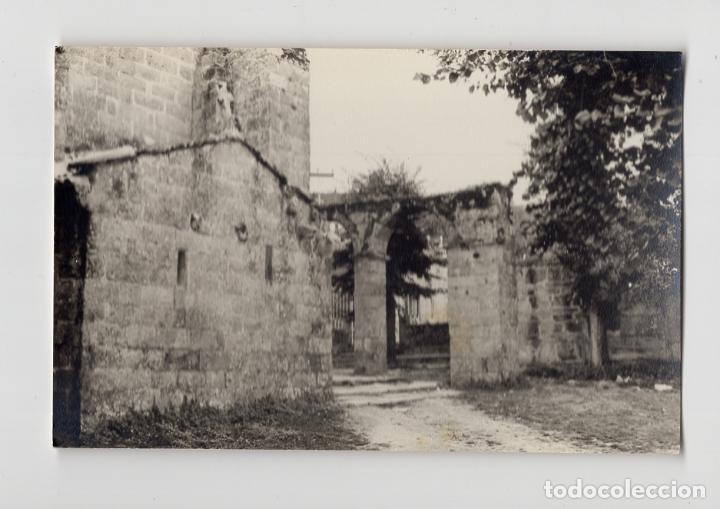 FINISTERRE, CORUÑA. VISTA PARCIAL DE IGLESIA (Fotografía Antigua - Fotomecánica)