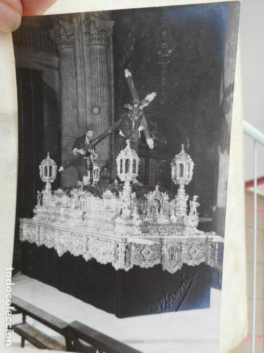 ANTIGUA FOTOGRAFIA.CRISTO JESUS DE LA PASION. FOTO ALBARRAN. SEVILLA (Fotografía Antigua - Fotomecánica)