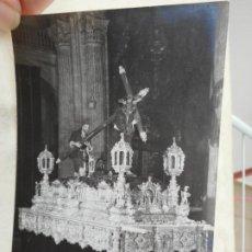 Fotografía antigua: ANTIGUA FOTOGRAFIA.CRISTO JESUS DE LA PASION. FOTO ALBARRAN. SEVILLA. Lote 277529058