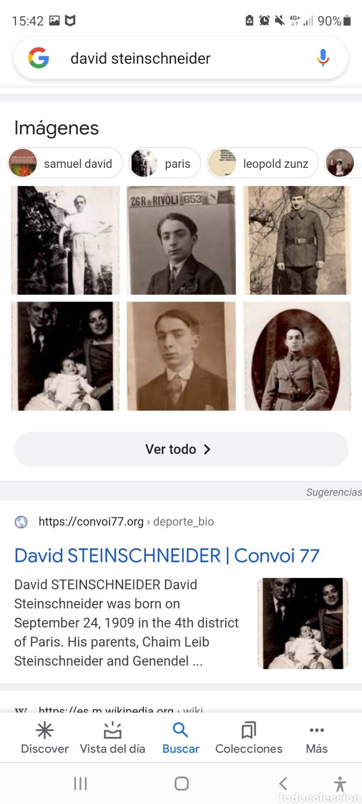 Fotografía antigua: Fotografia original de David Steinschneider convoi 77 1ra Guerra Mundial - Foto 7 - 277600723