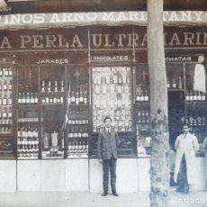 Fotografía antigua: (FOT-210700)FOTOGRAFIA LA PERLA ULTRAMARINA.VINOS ARNO MARISTANY Y CIA.BARCELONA. Lote 277600803