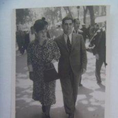 Fotografía antigua: MINUTERO DE FOTOGRAFO CALLEJERO DE PAREJA PASEANDO . BARCELONA, 1941. Lote 277655398
