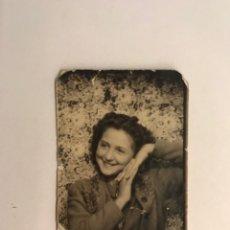 Fotografía antigua: FOTOMATON PHOTOMATON JOVEN Y SONRIENTE MUCHACHA (H.1945?) MEDÍDAS: 5 X 3,5 CM.,. Lote 277841023
