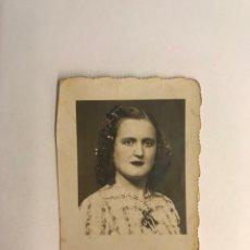 Fotografía antigua: FOTOMATON PHOTOMATON MUCHACHA DE PROFUNDA MIRADA (H.1950?) MEDÍDAS: 5,5 X 4,5 CM.,. Lote 277841648