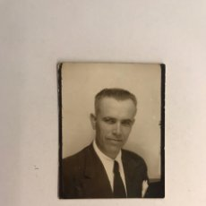 Fotografía antigua: FOTOMATON PHOTOMATON SEÑOR CON CORBATA NEGRA (H.1950?) MEDÍDAS: 5 X 3,5 CM.,. Lote 277841868