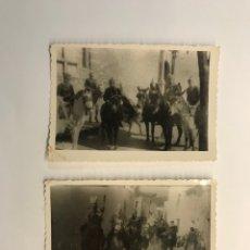 Fotografía antigua: FOTOGRAFÍA (2) CHIRIGOTADA.., FIESTAS POPULARES… (H.1950?) MEDIDAS: 10 X 7 CM.,. Lote 277843463