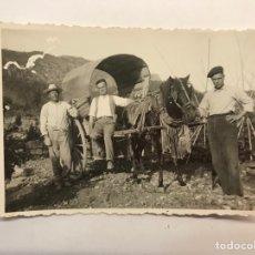 Fotografía antigua: LA POBLA LLARGA, PUEBLA LARGA.., FOTOGRAFÍA EN LA HUERTA CON LA TARTANA.. (H.1950?). Lote 280111223