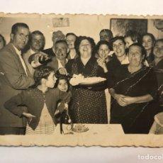 Fotografía antigua: LA POBLA LLARGA, PUEBLA LARGA.., CUMPLEAÑOS DE LA ANFITRIONA .. (H.1950?). Lote 280115853