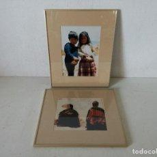 Fotografia antiga: 2 FOTOGRAFÍAS PROFESIONALES ENMARCADAS CON CRISTAL, INDÍGENAS, UNOS 42 X 34 CMS. (C32). Lote 282185723