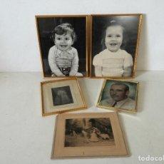 Fotografia antiga: LOTE DE 5 FOTOGRAFÍAS, ANTIGUAS O VINTAGE, 4 ENMARCADAS, A CLASIFICAR. Lote 282185738
