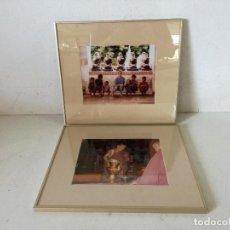Fotografia antiga: 2 FOTOGRAFÍAS PROFESIONALES ENMARCADAS CON CRISTAL, INDIA, UNOS 39 X 34 CMS. (C34). Lote 282185778