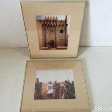 Fotografia antiga: 2 FOTOGRAFÍAS PROFESIONALES ENMARCADAS CON CRISTAL, ÁFRICA, UNOS 39 X 34 CMS. (C35). Lote 282185923