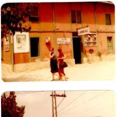 Fotografia antiga: SANT ANDREU DE LLAVANERES - ESTACIÓ + TREN - ANYS 70? - 2 FOTOS 120X89MM.. Lote 284693803