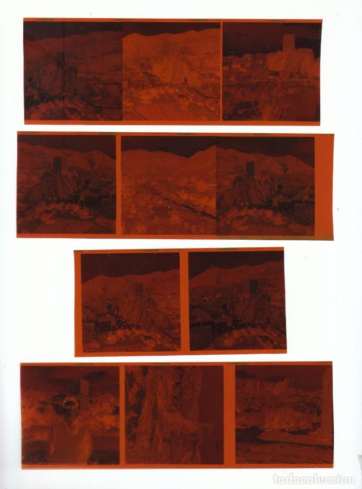LOTE FANTÁSTICOS NEGATIVOS MONTAÑAS CASTILLO TORRE DE SOT DE CHERA, VALENCIA. 60-70S SD (Fotografía Antigua - Fotomecánica)
