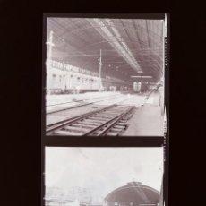 Fotografia antica: TRENES, FERROCARRILES, ESTACION DE TREN - 61 ANTIGUOS CLICHES NEGATIVOS EN CELULOIDE, AÑOS 1960. Lote 287735133