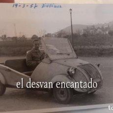 Fotografía antigua: BISCUTER. BARCELONA AVENIDA DIAGONAL 1957. FOTO ORIGINAL 10 X 8 CTMS. Lote 287906728