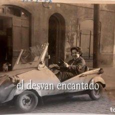 Fotografía antigua: BISCUTER. BARCELONA 1957. FOTO ORIGINAL 10 X 8 CTMS. Lote 287906978