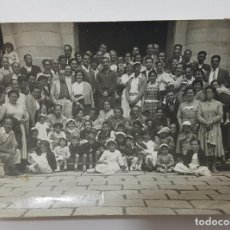 Fotografía antigua: FOTOGRAFIA ANTIGUA GRUPO NUMEROSO DE PERSONAS 10,5 X 7,5 CM. Lote 287907013