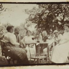 Fotografía antigua: FOTO ANTIGUA GRUPO 7 PERSONAS FIESTA 14 JULIO EN ARGELIA GRANJA LA PEPINIERE. 1915 6,5 X 4,5 CM. Lote 287910453