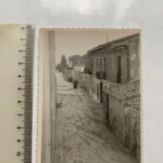 Fotografía antigua: FOTO. BENIMACLET. VALENCIA. CALLES HINUNDADAS RIADA, 13 OCT. 1957. FOTÓGRAFO?.. Lote 287913963