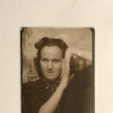 Fotografia antica: FOTOGRAFÍA FOTOMATON VALENCIA, MUJER JOVEN (A.1942) MEDIDAS: 6 X 6 CM.,. Lote 288034443