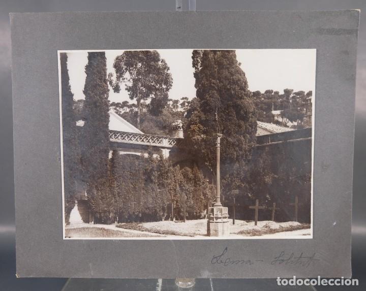 FOTOGRAFIA TITULADA LEMA CEMENTERIO AÑOS 30-40 (Fotografía Antigua - Fotomecánica)