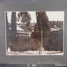 Fotografía antigua: FOTOGRAFIA TITULADA LEMA CEMENTERIO AÑOS 30-40. Lote 288213803