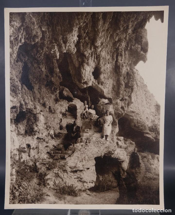 FOTOGRAFÍA FAMILIA EN LA MONTAÑA AÑOS 30-40 (Fotografía Antigua - Fotomecánica)