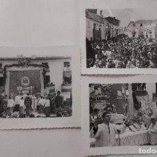 Fotografía antigua: 3 FOTOS POSIBLE CORONACION VIRGEN AÑOS 60. IDENTIFICAR LUGAR: CUENCA,VALENCIA,TARANCÓN (RIANSARES). Lote 288932418