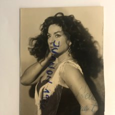 Fotografia antica: LOLA FLORES, FOTOGRAFÍA CON AUTÓGRAFO ORIGINAL (H.1950?) MEDIDAS: 14 X 8,5 CM.,. Lote 289588808