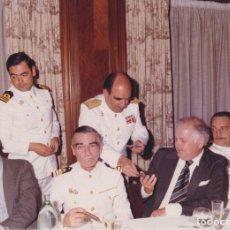 Fotografía antigua: VAIXELL ESCORTA BALEARES EL DIA DE LES FORCES ARMADES – VISITA DE LES AUTORITATS - 1981. Lote 289650823