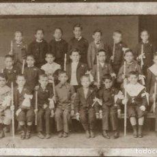 Fotografía antigua: X227 - NIÑOS EN SU PRIMERA COMUNIÓN CRISTIANA - FOTO 19X14CM 1910'. Lote 289889583