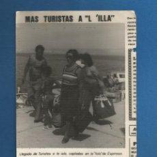 Fotografía antigua: FOTOGRAFIA AÑOS SETENTA ISLA DE AROSA (PONTEVEDRA). Lote 291054513