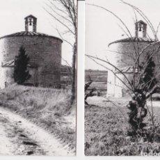 Fotografia antica: DOS ANTIGUAS FOTOGRAFIAS DE LA IGLESIA ROMÁNICA DE SANT PERE EL GROS (CERVERA) - (7,5X10,5). Lote 293290493