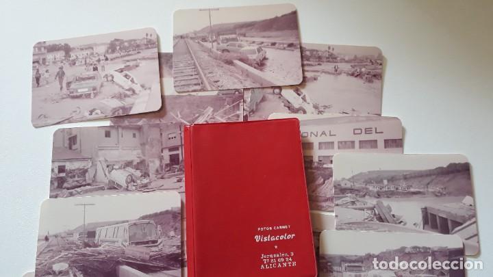 Fotografía antigua: Lote 17 fotografías. Riada del 82 en Alicante. Fotos Vistacolor Alicante. - Foto 2 - 293669013