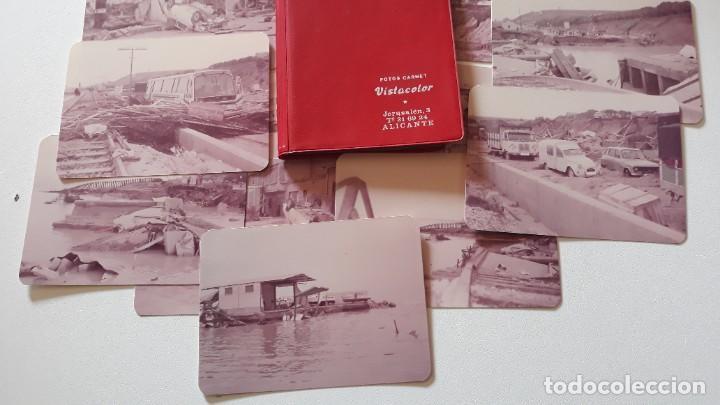 Fotografía antigua: Lote 17 fotografías. Riada del 82 en Alicante. Fotos Vistacolor Alicante. - Foto 4 - 293669013