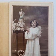 Fotografía antigua: MADRID. FOTO DE NIÑA EN EL ESTUDIO DE LA FOTO ELÉCTRICA. FUENCARRAL, 8 - AÑOS 20S. Lote 294563333
