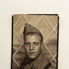 Fotografia antica: FOTOMATÓN. FOTOGRAFÍA DEL ARTILLERO.. SOLDADO RASO (H.1960?) MEDIDAS: 5 X 3,5 CM.,. Lote 295028478