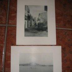 Fotografía antigua: 2 FOTOTIPIA DE HAUSER Y MENET IBIZA . FOTOGRAFIA ESPAÑA ILUSTRADA 1894 . 32/25 CM. Lote 295635208