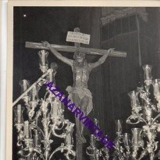 Fotografía antigua: SEMANA SANTA SEVILLA, AÑOS 60, CRISTO DE LAS ALMAS, LOS JAVIERES, 72X102MM. Lote 297025923