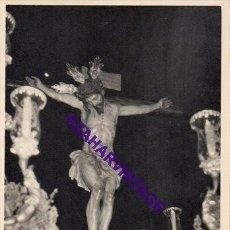 Fotografía antigua: SEMANA SANTA SEVILLA, AÑOS 60, CRISTO DE LA SALUD, SAN BERNARDO, 72X102MM. Lote 297026418