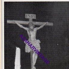 Fotografía antigua: SEMANA SANTA SEVILLA, AÑOS 60, CRISTO DE LA BUENA MUERTE, LOS ESTUDIANTES, 72X102MM. Lote 297026558