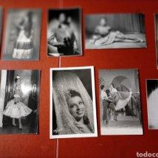 Fotografía antigua: LOTE FOTO BAILADORAS VEDETTES 10 FOTO. Lote 297379328