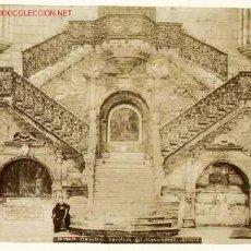 Fotografía antigua: FOTOGRAFÍAS ANTIGUAS DE BURGOS. ESCALERA DE LA CATEDRAL Y RETABLO DE SAN NICOLÁS. CIRCA 1890.. Lote 22399296