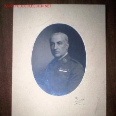 Fotografía antigua: GENERAL DOCTOR GOMEZ ULLA CON SU AUTOGRAFO KAULAK MADRID SANIDAD MILITAR CORTEZO. Lote 26640200