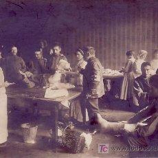 Fotografía antigua: 1ª GUERRA MUNDIAL. HOSPITAL DE SANGRE EN EL FRENTE RUSO. R.PARRONDO FOTO. MADRID. Lote 11081512